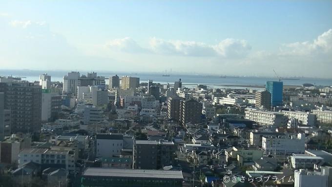 きみさらづタワーから見た昼間の市街地の景色