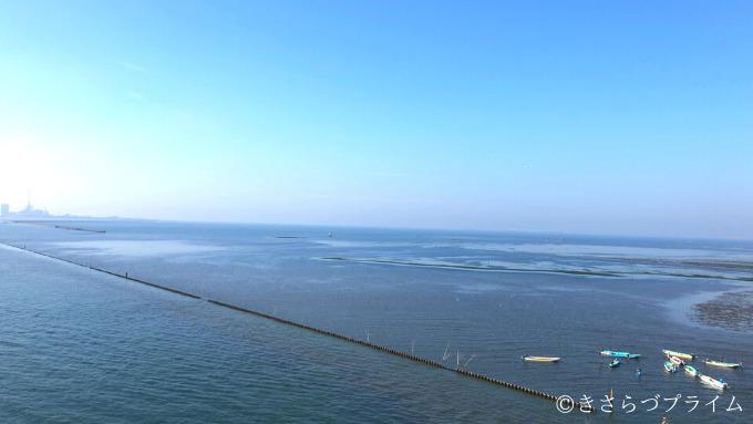 中の島大橋から見た東京湾